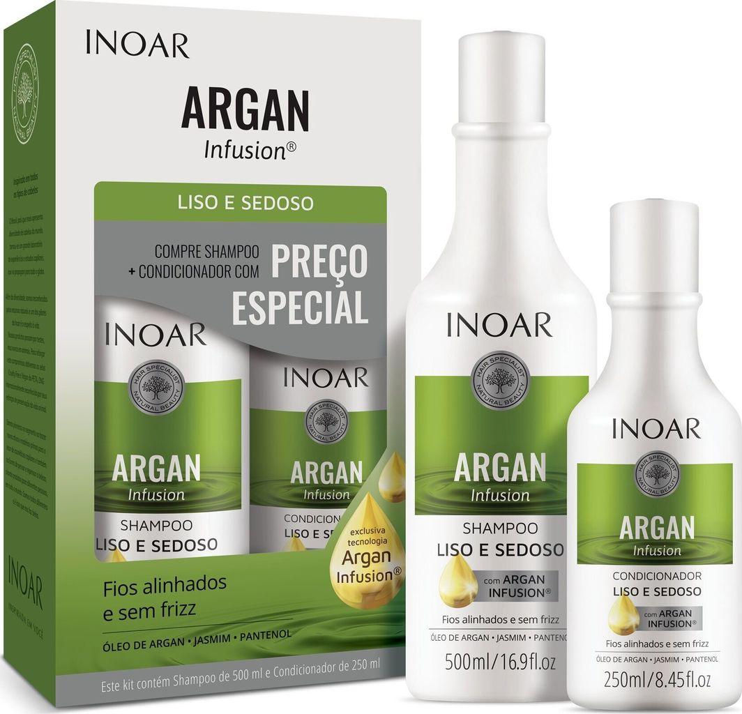 Inoar Zestaw do włosów delikatnych  szampon 500 ml +  odżywka 250 ml 1