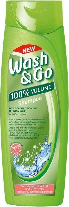Wash & Go Szampon przeciwłupieżowy  do wrażliwej skóry głowy 400 ml 1