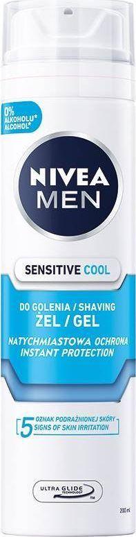 Nivea NIVEA_Men Sensitive chłodzący żel do golenia 200ml 1
