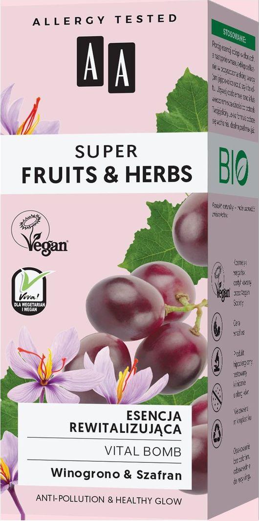 AA Super Fruits Herbs esencja rewitalizująca vital bomb 30ml 1