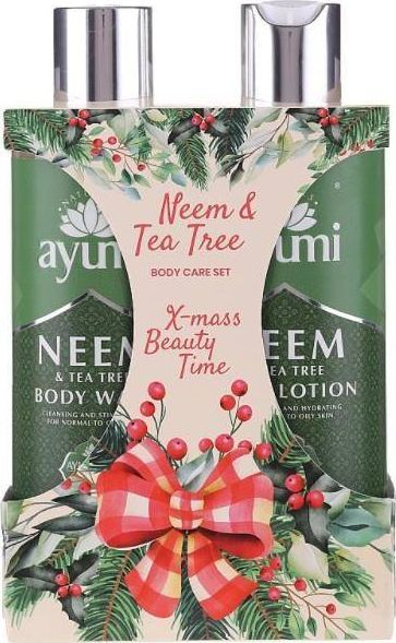 Ayumi AYUMI_SET X-mass Beauty Time Neem & Tea Tree Body Wash płyn do mycia ciała 250ml + Body Lotion balsam do ciała 250ml 1