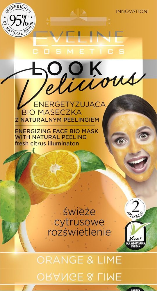 Eveline Look Delicious Bio Maseczka z naturalnym peelingiem - Orange & Lime  1