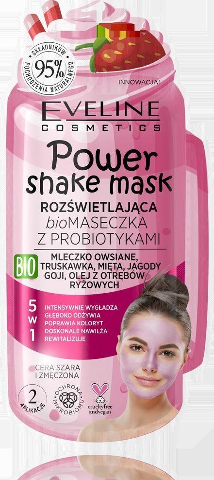Eveline Power Shake Mask Bio maseczka z probiotykami 5w1  1