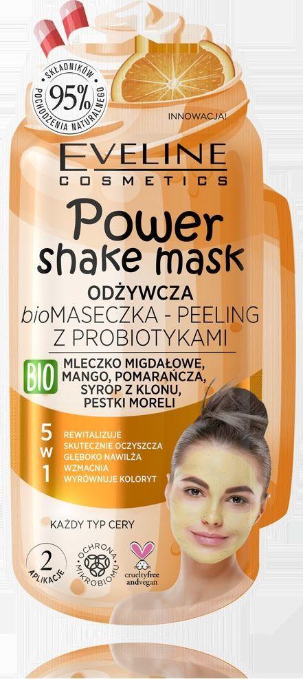 Eveline Power Shake Maska Bio peeling z probiotykami 5w1  1