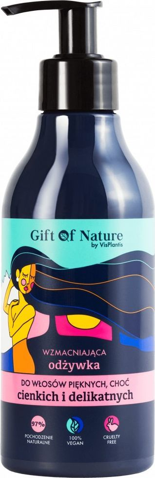 Vis Plantis Gift Of Nature Wzmacniająca Odżywka do Włosów Cienkich i Delikatnych 300 ml 1