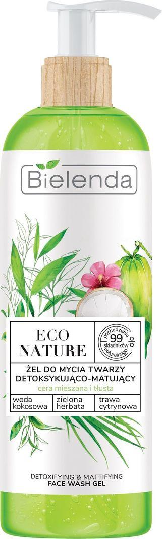 Bielenda Eco Nature Żel do mycia twarzy detoksykująco-matujący - Woda Kokosowa & Zielona Herbata & Trawa Cytrynowa 200g 1