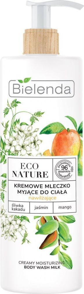 Bielenda  Eco Nature Kremowe Mleczko myjące do ciała nawilżające - Śliwka Kakadu & Jaśmin & Mango 400 ml 1