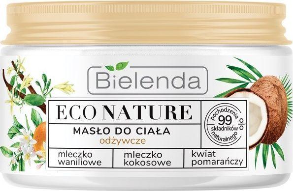 Bielenda Eco Nature Masło do ciała odżywcze - Mleczko Waniliowe & Kokosowe & Kwiat Pomarańczy 250 ml 1