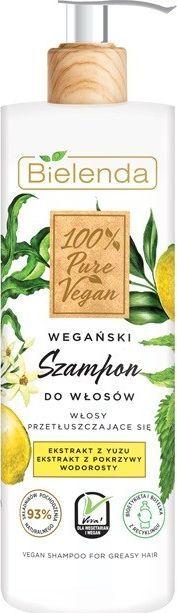 Bielenda 100% Pure Vegan Wegański Szampon do włosów przetłuszczających się 400g 1