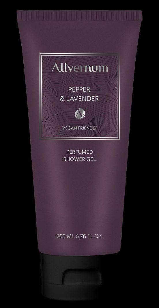 Allverne  Men Żel pod prysznic pefumowany Pepper & Lavender 200ml 1