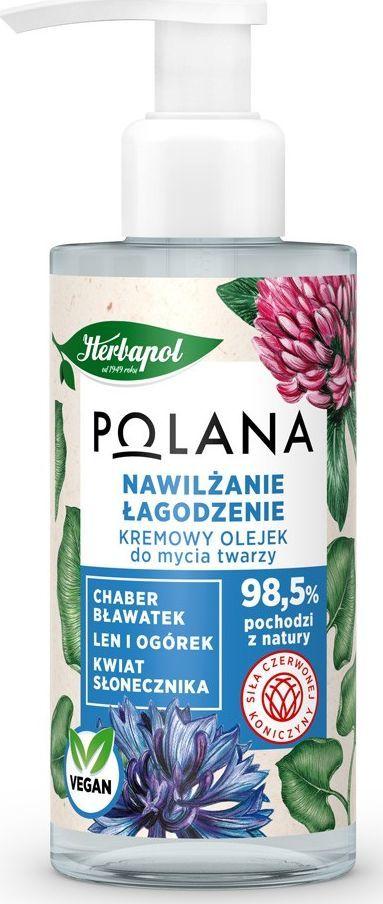 HERBAPOL  Polana Kremowy Olejek do mycia twarzy - Nawilżanie i Łagodzenie 150ml 1