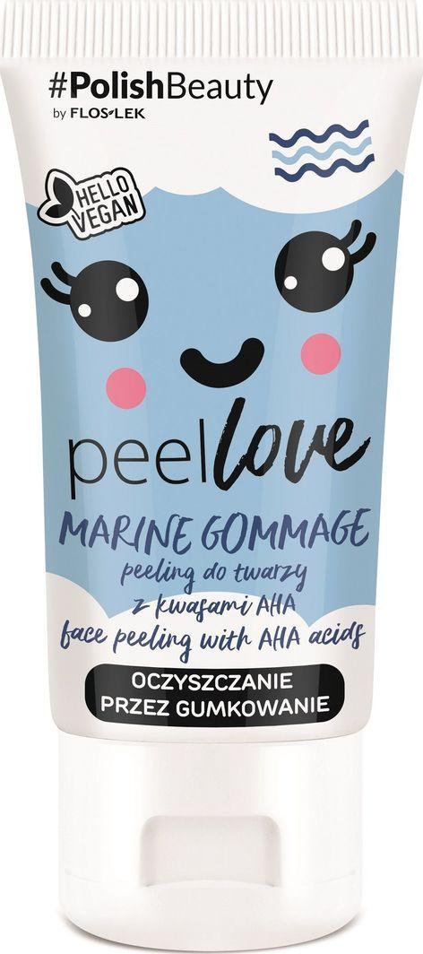 FLOSLEK Peeling do twarzy z kwasami AHA Marine Gommage 75 ml 1