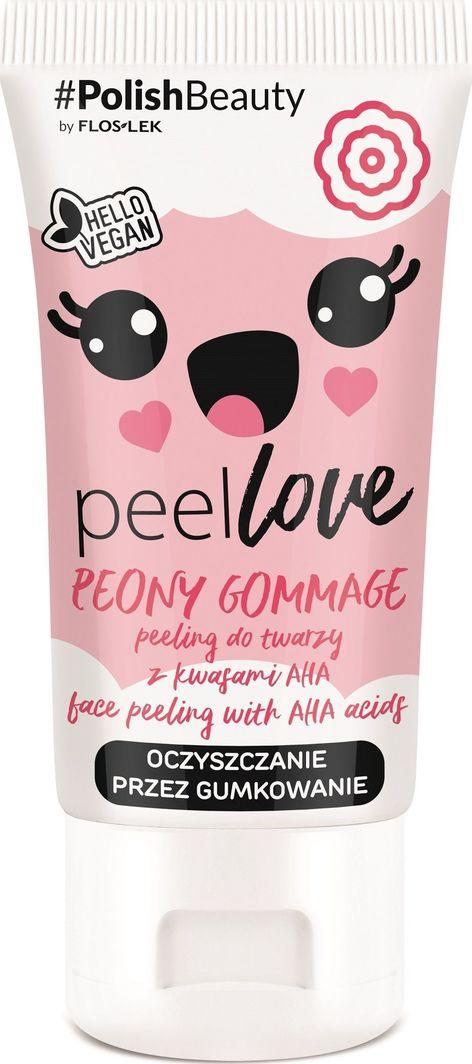 FLOSLEK Peeling do twarzy z kwasami AHA Peony Gommage 75 ml 1