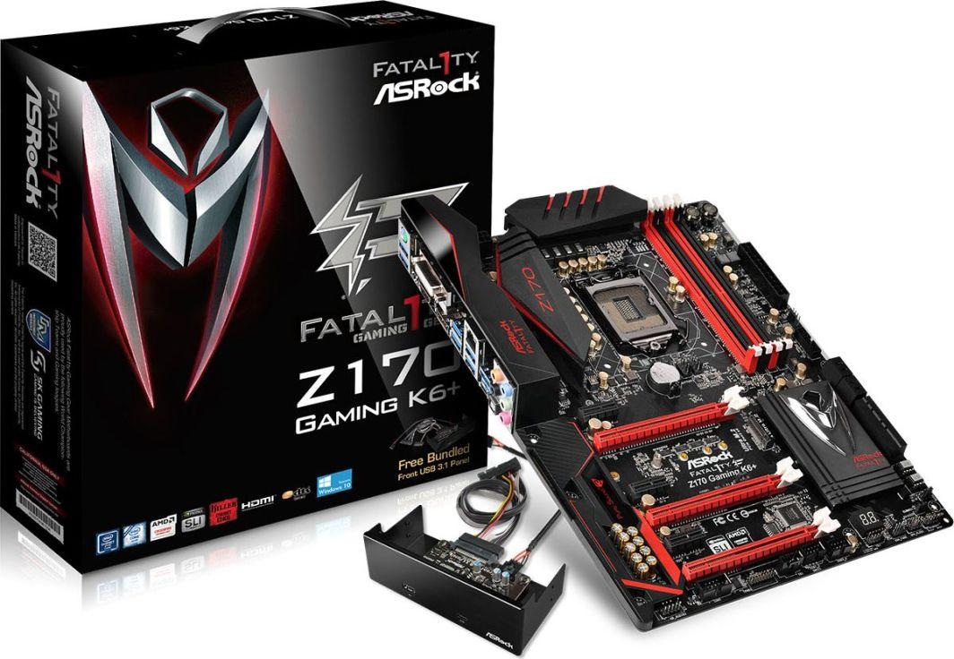 Płyta główna ASRock Gaming K6+, Intel Z170, 4x DDR4, SATA3, USB 3.1, GBLAN, ATX 1