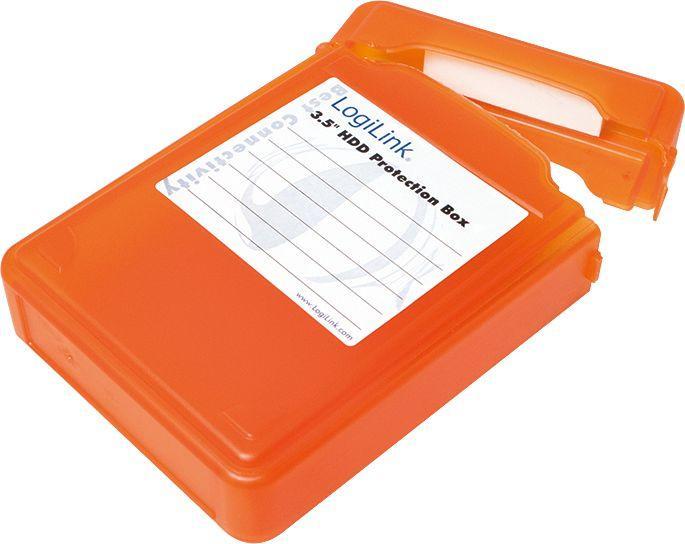 """LogiLink Pudełko ochronne do HDD 3.5"""" pomarańczowe (UA0133O) 1"""