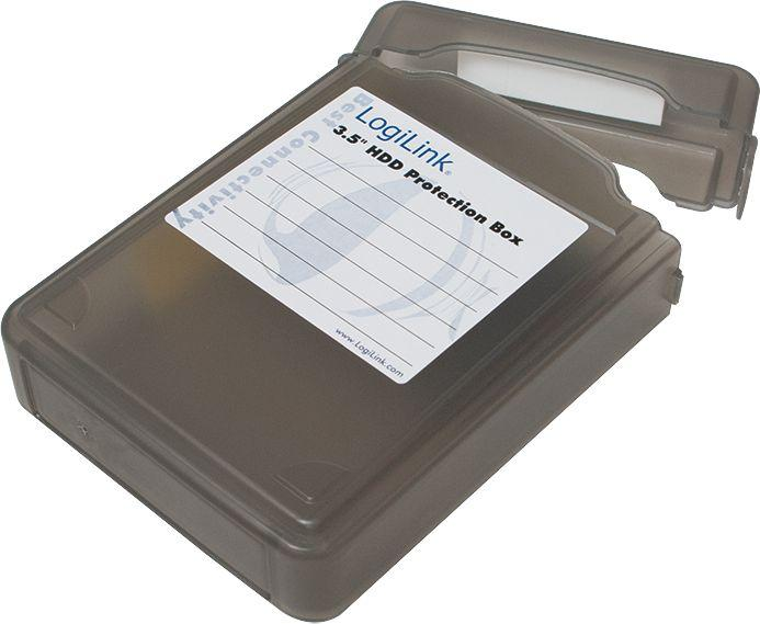 "LogiLink Pudełko ochronne do HDD 3.5"" czarne (UA0133B) 1"