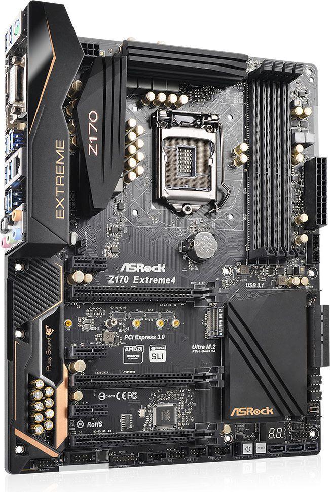 Płyta główna ASRock Z170 Extreme 4, Intel Z170, 4x DDR4, SATA3, USB 3.1, GBLAN, ATX 1