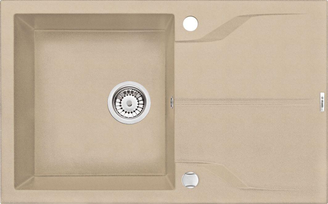Deante Zlewozmywak 1-komorowy Andante z ociekaczem 49 x 78cm alabaster (ZQN_A113) 1