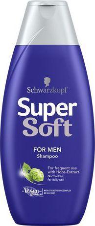 Schwarzkopf Schwarzkopf Supersoft Szampon dla mężczyzn 400ml 1
