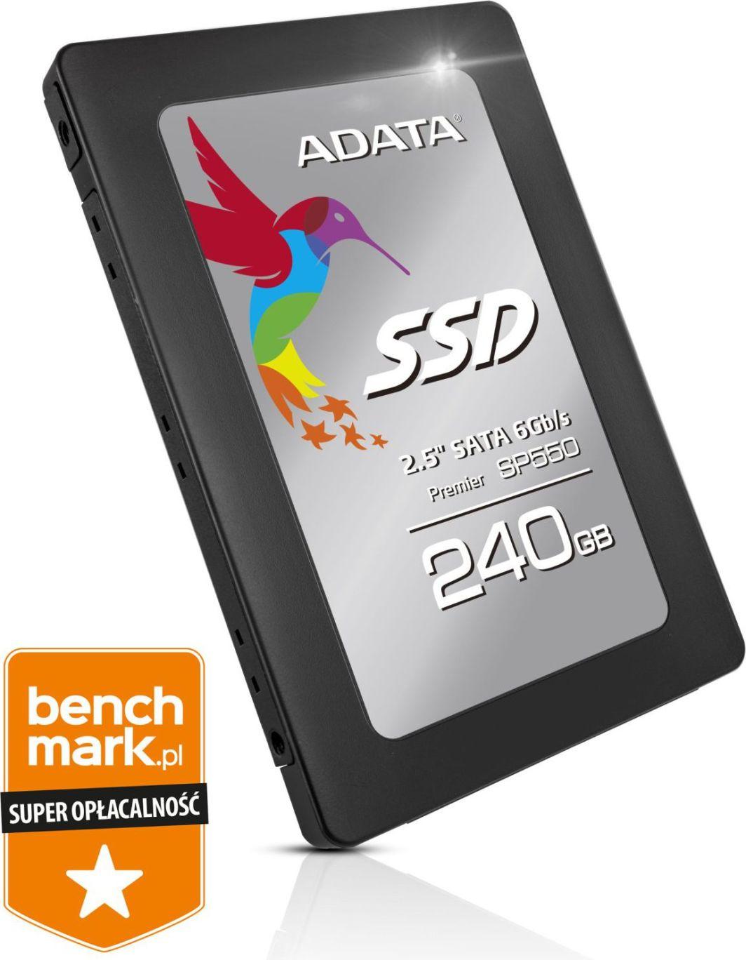 "Dysk SSD ADATA  Premier Pro SP550 240 GB 2.5"" SATA III (ASP550SS3-240GM-C) 1"
