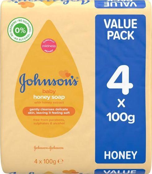 Johnsons JOHNSONS Mydło w kostce 4x100g 1