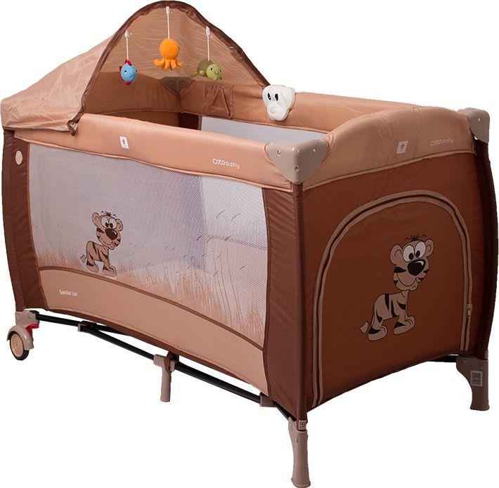 Coto Baby Łóżeczko turystyczne Coto Baby Samba Lux - brown 1