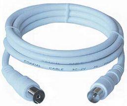 Kabel PremiumCord Antenowe 10m biały (ktmf10) 1