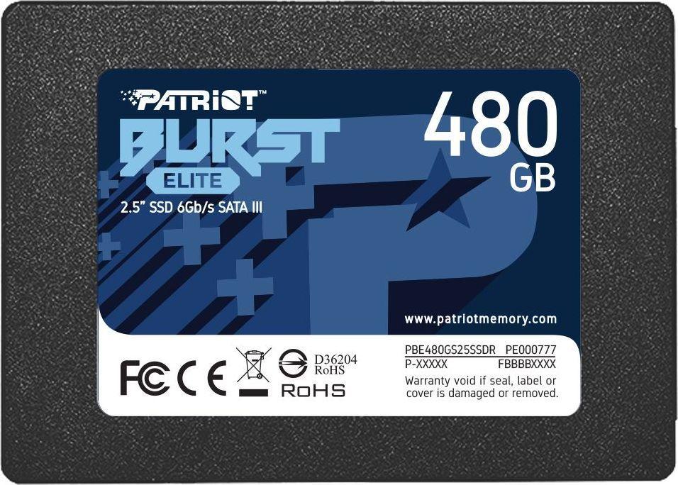 "Dysk SSD Patriot Burst Elite 480 GB 2.5"" SATA III (PBE480GS25SSDR) 1"