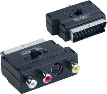 Adapter AV V7 SCART na Video Chinch Czarny (V7VIDSVHSADPT) 1