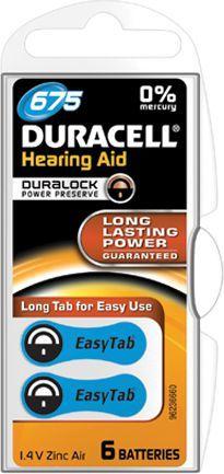 Duracell Bateria do aparatów słuchowych PR44 6szt. 1