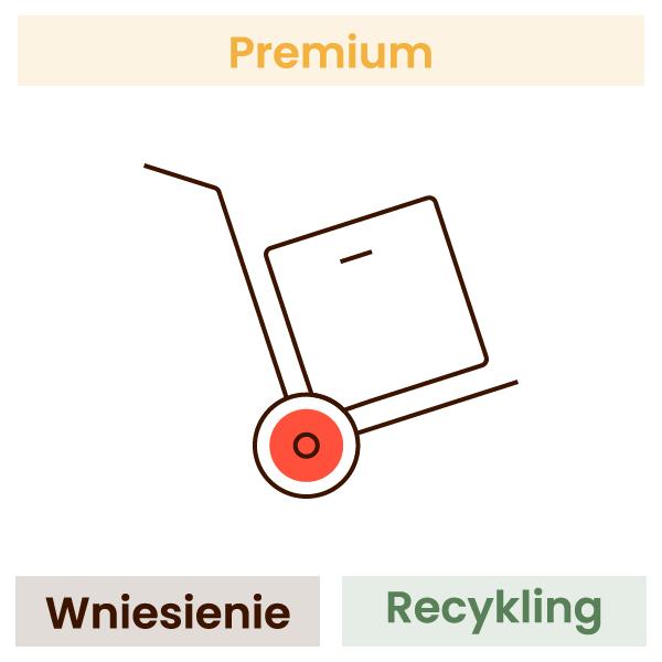 Wniesienie, rozpakowanie, wyniesienie opakowań + recykling (jednego wybranego towaru) 1
