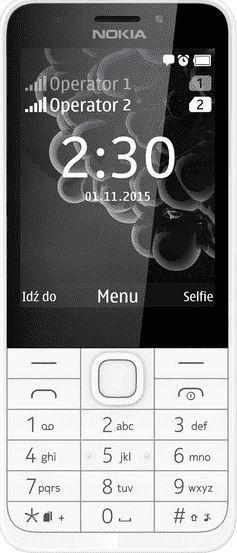 Telefon komórkowy Nokia 230 Dual SIM Biały 1