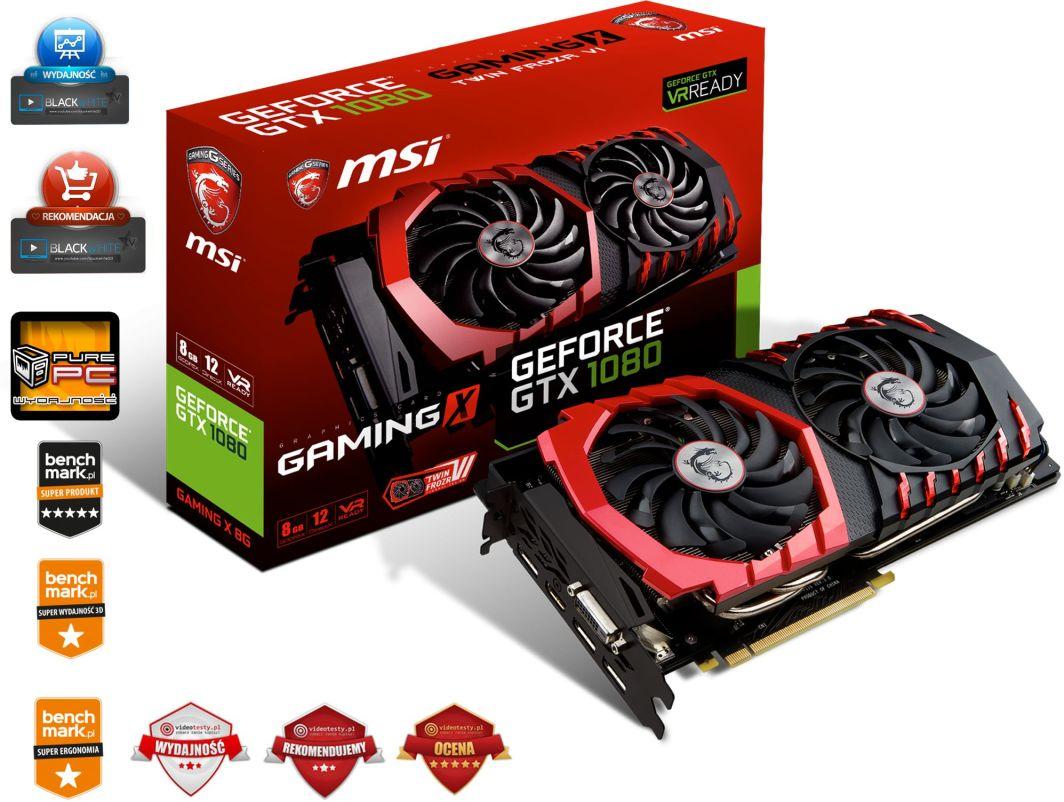 Msi Geforce Gtx 1080 Gaming X 8gb Gddr5x 256 Bit Hdmi 3x Dp Dvi