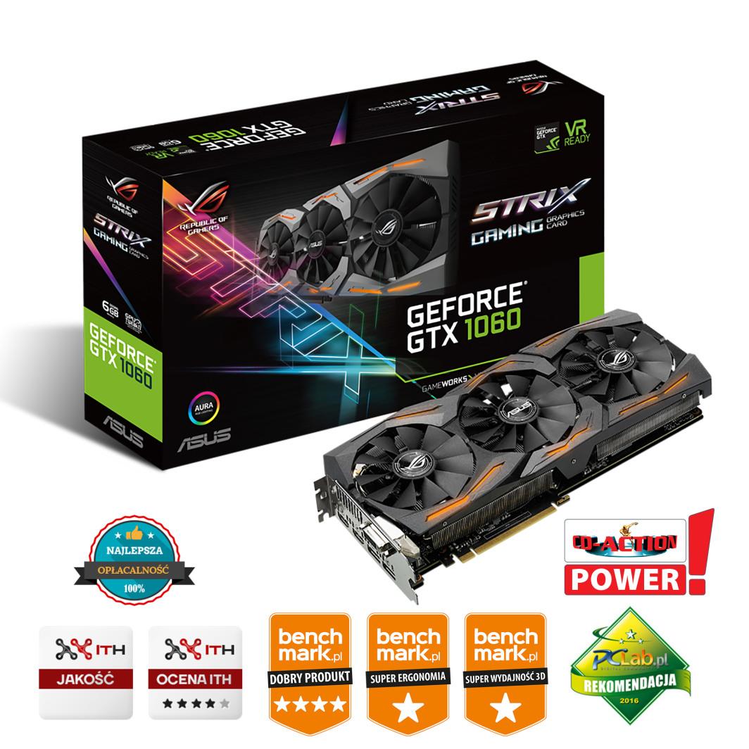 Karta graficzna Asus ROG Strix GeForce GTX 1060 Gaming OC 6GB GDDR5 (STRIX-GTX1060-O6G-GAMING) 1