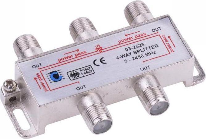 Libox Rozgałęziacz sygnału/Spliter 4 WAYS (LB0047) 1