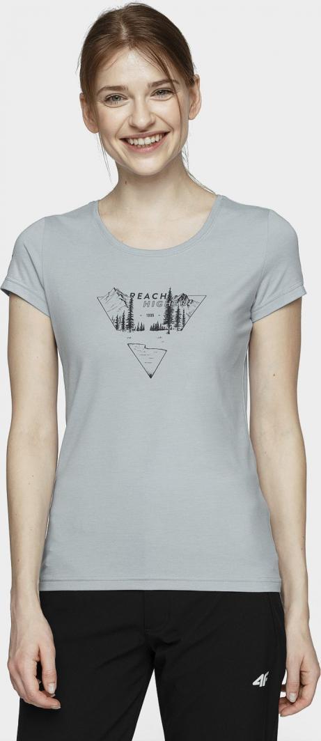 4f T-shirt damski H4L21-TSD061 jasny niebieski r. M 1