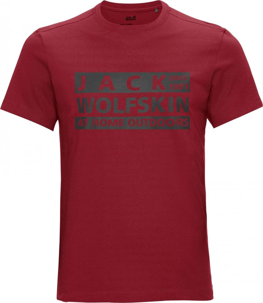 Jack Wolfskin Koszulka męska Brand T M dark lacquer red r. L 1