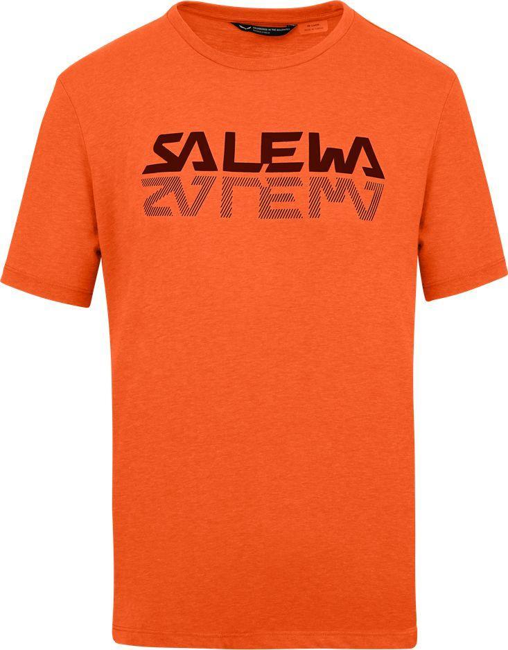 Salewa Koszulka męska Reflection Dri-Rel M s/s Tee red orange melange r. L 1