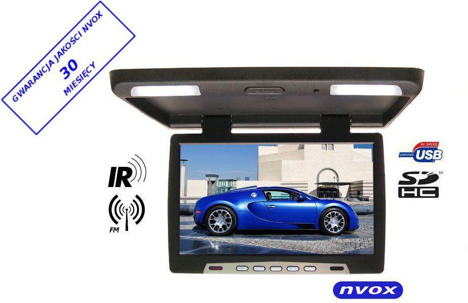 Nvox Monitor podsufitowy podwieszany LED 15' z USB SD IR FM 12V Czarny (RF1590USB) 1