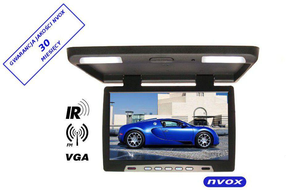 """Nvox Monitor podsufitowy podwieszany LED 20"""" z IR FM VGA 12V Czarny (RF2090IR) 1"""