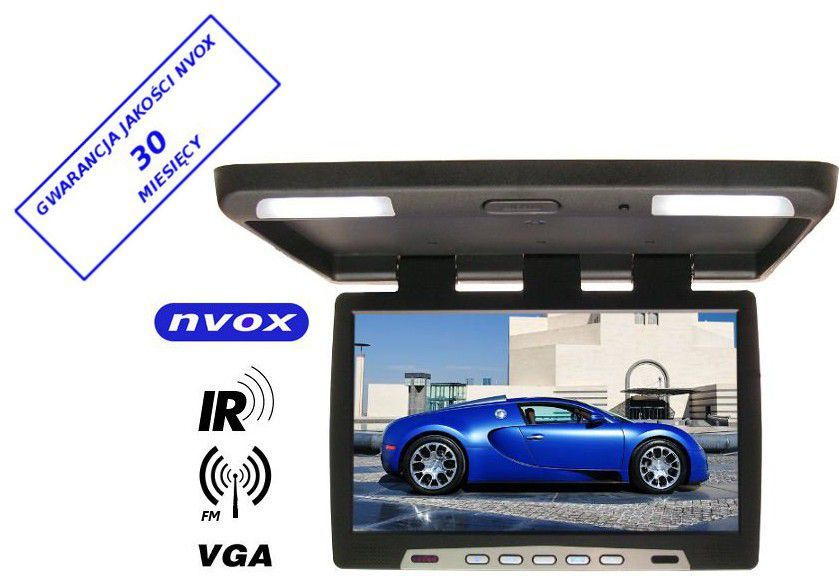 Nvox Monitor podsufitowy podwieszany LED 22' z IR FM VGA 12V - RF2289IR - RF2289IR 1