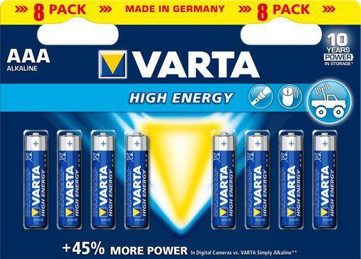 Varta Bateria High Energy AAA / R03 8szt. 1