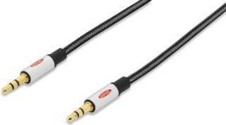 Kabel Ednet Jack 3.5mm - Jack 3.5mm 1.5m czarny (84540) 1