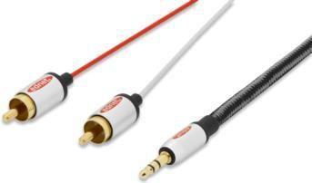Kabel Ednet Jack 3.5mm - RCA (Cinch) x2 2.5m  (84542) 1