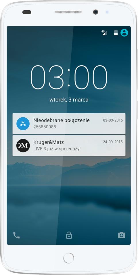 Smartfon Kruger&Matz 16 GB Dual SIM Biały  (KM0428) 1