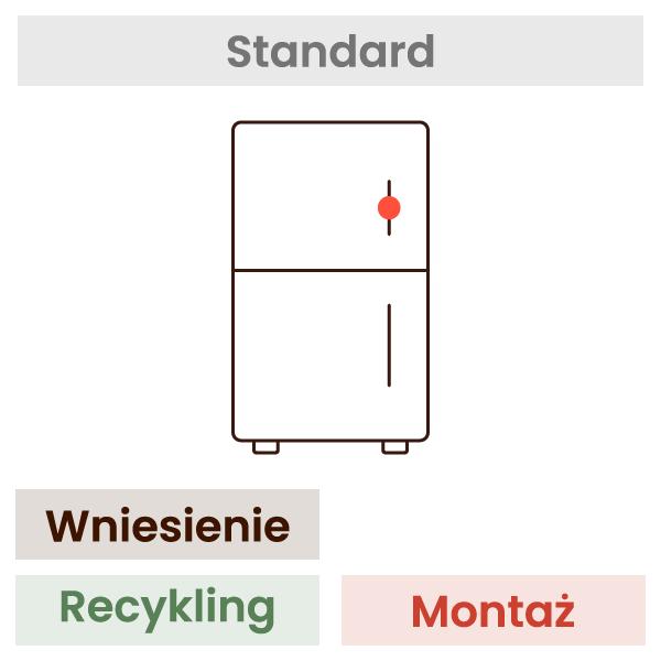 Montaż lodówki (wniesienie, wypoziomowanie, podłączenie, recykling) 1
