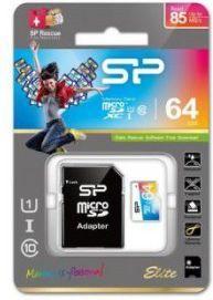 Karta Silicon Power Elite MicroSDXC 64 GB Class 10 UHS-I  (SP064GBSTXBU1V20SP) 1