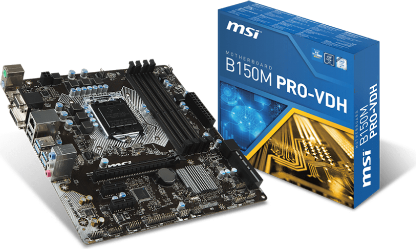 Płyta główna MSI B150M PRO-VDH, B150, DDR4, SATA3, USB 3.1, mATX (B150M PRO-VDH) 1