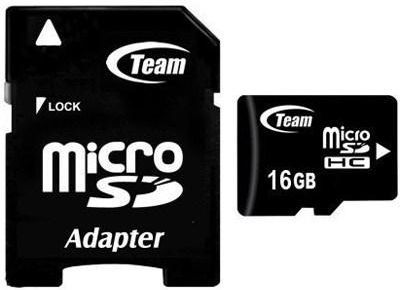 Karta Team Group MicroSDHC 16 GB Class 10  (TUSDH16GCL1003) 1