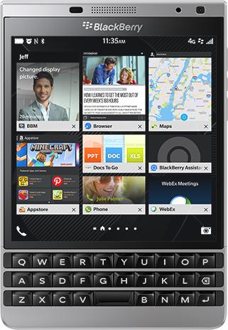Smartfon Blackberry 32 GB Srebrny  (Passport Silver) 1